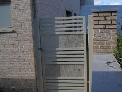 Moderne poorten inox metaal interieur - Moderne buitentrap ...