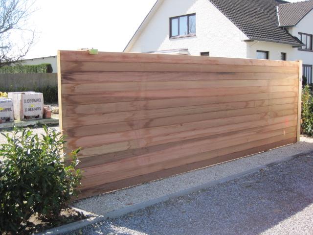 Houten poorten inox metaal interieur - Interieur gevelbekleding houten ...